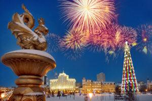 Огни новогодней Казани